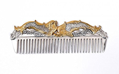 Silver Hair comb ''Fish'' by Sribnyk - Gallery of Silver Art