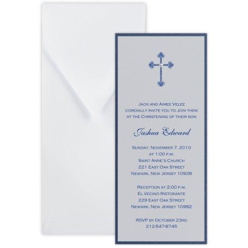 Layered Tea with Vellum Baptism Christening Invitation - Set of - Invitation Layered