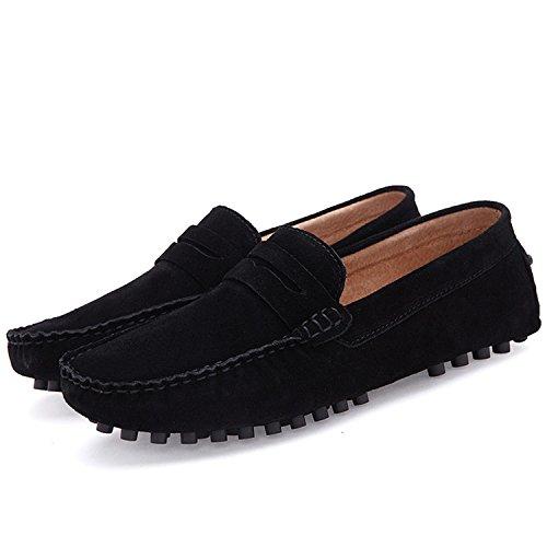 Conduite Chaussures Cuir en Chaussures Suede Respirant Hommes Esthesis Noir Bateau Été Mocassins Printemps Casual Mocassins tqpcRB