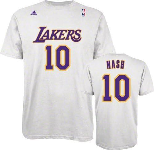 Amazon.com: adidas Steve Nash Los Angeles Lakers White ...