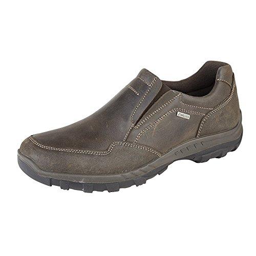 IMAC Herren Wachs Leder Freizeit Schuhe Braun