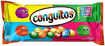 Conguitos - Cacahuete recubierto de chocolate, 70 g: Amazon.es: Alimentación y bebidas