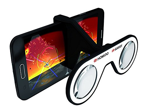 Mini Virtual Reality Glasses for Smartphone Homido Mini 3D Foldable Folding Plastic VR Headset Compliant with 4'-6' Iphone & Android Cell Phone