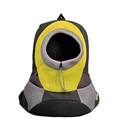 [Freerun Pet Front Carrier Dog Cat Carrier Portable Outdoor Travel Breathable Backpack - Yellow, Size] (Bowser Costume For Dog)