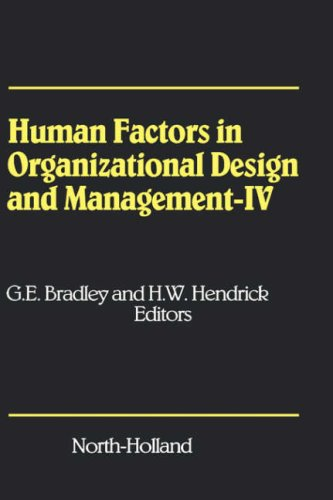 Human Factors in Organizational Design and Management - IV: Development, Introduction and Use of New Technology - Challe
