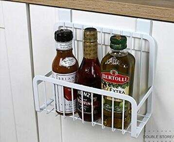 Metal Basket Organizer Over the Door Cabinet Drawer Cookware Holder Cleaning Supplies Organizer