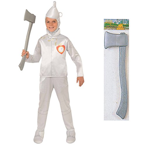 Wizard of Oz Tin Man Costume Bundle Set - Child Large Costume and Axe (Toto From Wizard Of Oz Costume)