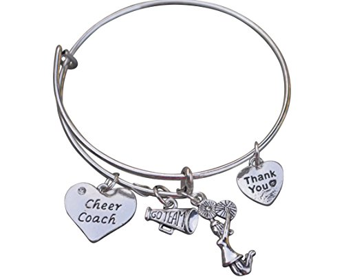 Infinity Collection Cheer Coach Bracelet- Cheerleading Coach Bracelet- Bangle Bracelet- Cheer Jewelry - Perfect Thank You Gift for Cheer Coaches for $<!--$15.00-->
