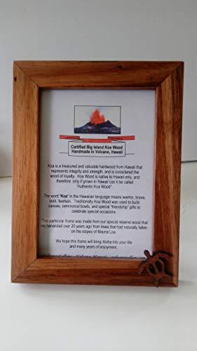 - Handmade in Hawaii - Koa Wood Frame 5x7 with TURTLE Accent