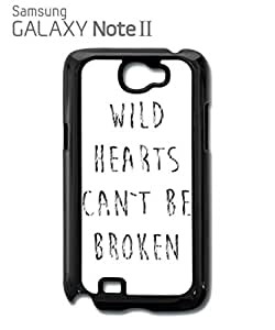 Wild Hearts Can't Be Broken Bad Girl Mobile Cell Phone Case Samsung Note 2 Black