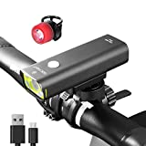 Gaciron Rechargeable LED Bike Light. Perfect Commuter Bicycle Headlight Tail Light, Water Resistant Front and Back Rear Light, Easy to Install and Fits All Bikes