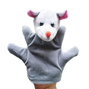 Malloom-Bekleidung Baby-Kind-Zoo-Farmtier-Handhandpuppen-Finger-Sack-Pl/üsch-Spielzeug