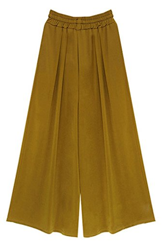 Jusfitsu - Pantalón - recto - para mujer amarillo