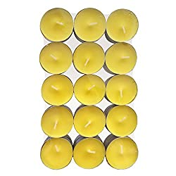 Just Light Candles Official Pack of 30 Citronella Fresh Scented Tea Lights Candles - Premium Quality Made in the USA - Use for Indoor and Outdoor Decoration and Insect Repellent