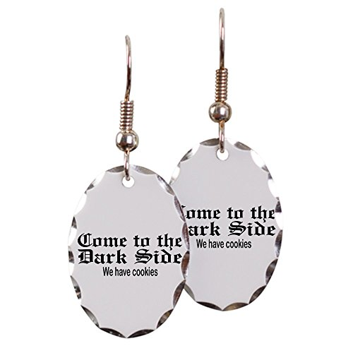 Earring Oval Charm Come to the Dark Side We Have Cookies