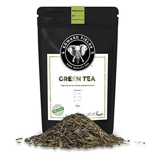 Edward Fields - Te Verde Organico de alta calidad Cantidad 100g Formato Granel Origen China Detox, antioxidante, adelgazante