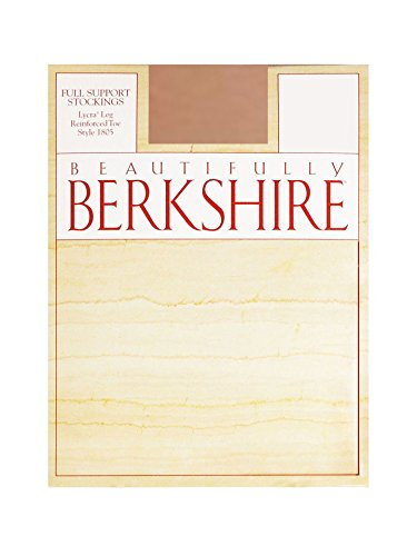 Berkshire Women's Full Support Stockings - Reinforced Toe, Barely Beige, C (Full Support Sock)