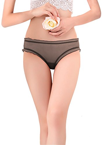ETAOLINE Women Sexy Lingerie Thongs Underwear See-Through Panties Shorts Briefs