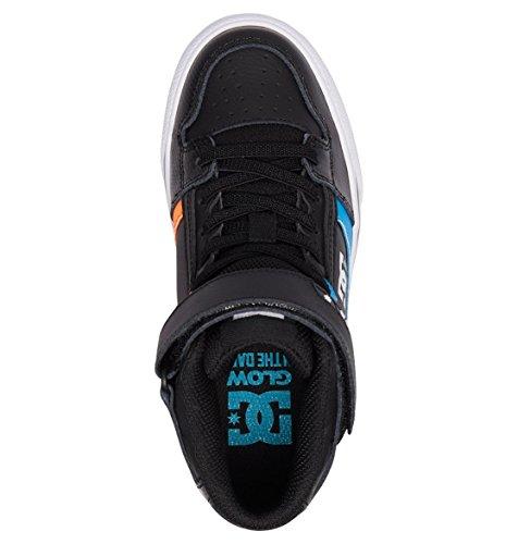 Pictures of DC Kids' Pure High-top Se Ev Skate Shoe Black Red Blue 2