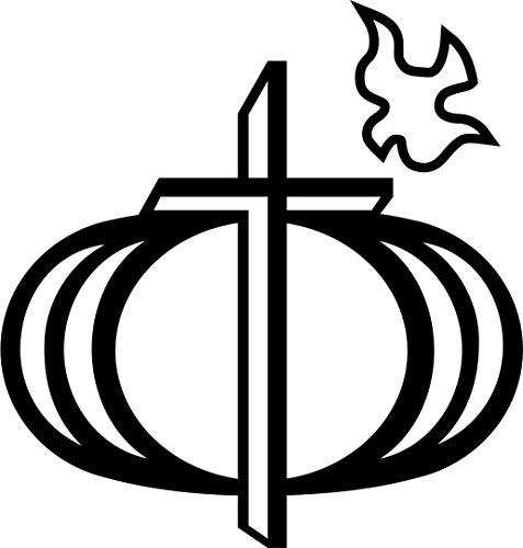 MAGNET Religious Christian Cross Circle Dove Window Decal Vinyl Magnetic Sticker 6