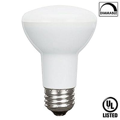 Luxrite LR31801 8-Watt LED BR20 Flood Light Bulb, 50W Equivalent, Soft White 3000K, Dimmable, E26 Base, UL-Listed, 1-Pack