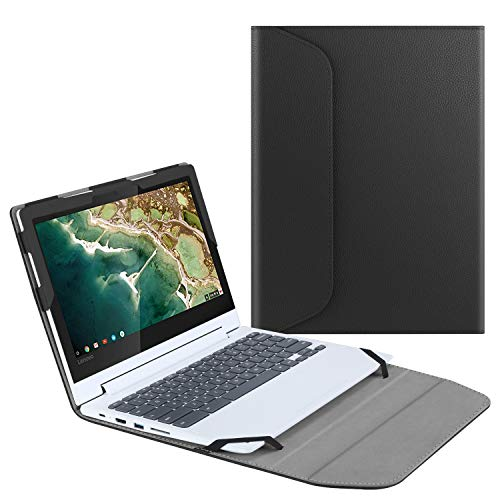 "Fintie Sleeve Case for 11.6"" Lenovo Chromebook C330 - Premium PU Leather Protective Portfolio Book Cover (NOT Fit Lenovo Chromebook N20p / N21 / N22 / N23 / 300E / 500E / Flex 11), Black"