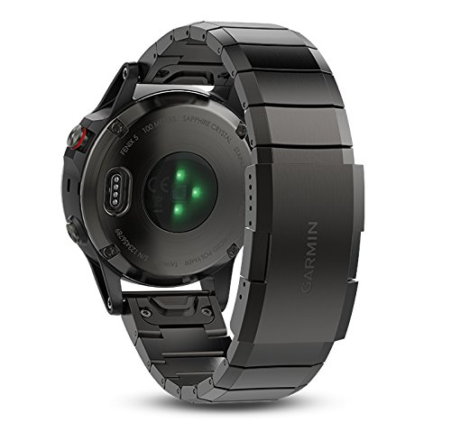 Garmin fenix 5 Sapphire (Slate Gray with Metal Band) GIFT BOX | Bundle includes Extra Silicone Band (Black), Screen Protector, PlayBetter USB Car/Wall Adapter, Protective Case | Multi-Sport GPS Watch by PlayBetter (Image #2)