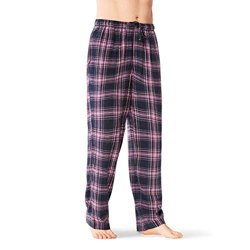 - SIORO Mens Pajama Pants Soft Flannel Cotton Sleepwear Bottoms Long Plaid Lounge Pant,Purple L