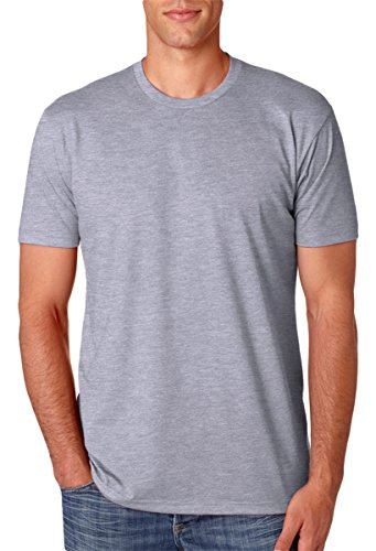 Next Level N6210 T-Shirt, Dark Heather Gray + Cardinal (2 Pack), X-Small