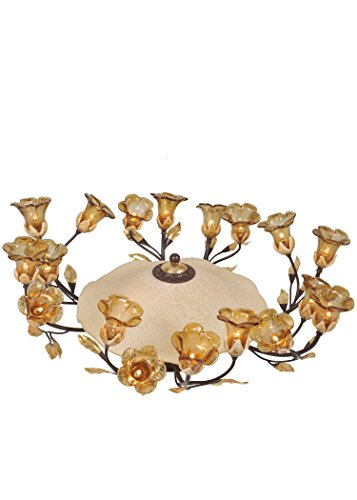 Meyda Tiffany 82759 Celestial Bouquet 18 Arm Flush mount, 32