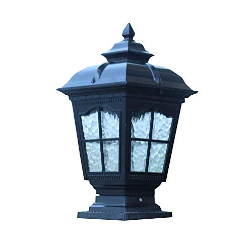 ZXT Outdoor Door Post LED Column Head lamp European Villa Garden guardrail Waterproof Landscape Garden Decorative Column lamp