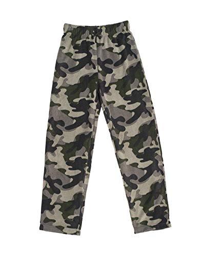 Ashford & Brooks Junior Micro Fleece Sleep Lounge Pajama Pants - Black/Camo - X-Large