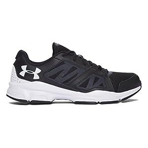 Under Armour Mens Zone 2 Training Shoe (11M, Black/White/White)