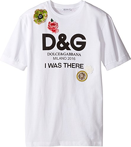 Dolce & Gabbana Kids Girl's I Was There Tee (Big Kids) White Print T-Shirt by Dolce & Gabbana