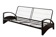 """DHP'S Alessa Futon Metal Frame will complement any modern room decor. Designed with functionality in mind, the Alessa instantly converts from sofa to full size sleeper. Complete the look with a 6"""" premier or 8"""" deluxe futon mattress, in a cho..."""