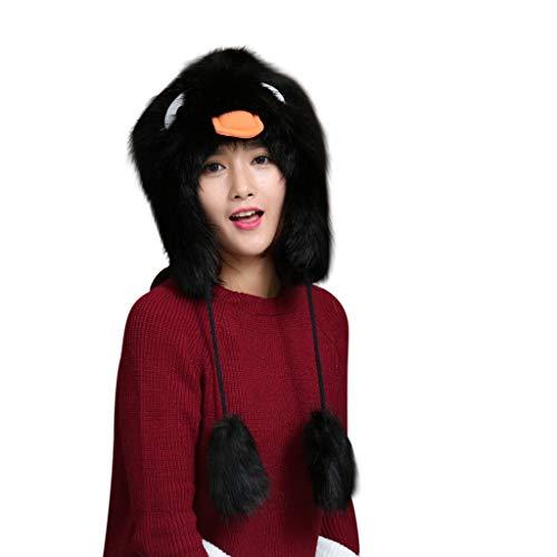 Palarn Newsboy Caps Bomber Cowboy Hats Berets Ladies Winter Plush Fake Thick Cute Cartoon Hat Ear Protectors Warm Plush Hat