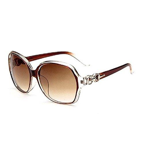 Gafas para 219 protección sol de nbsp;– mujer polarizadas gran Nikgic Brown de marco UV400 nbsp;Mode gafas wqBIPP