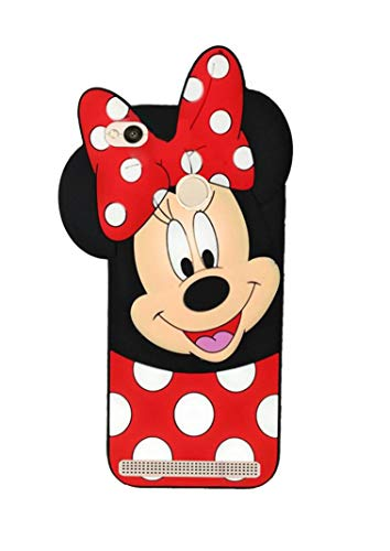 glover girlish cute mickey mouse soft rubber cartoon back cover for mi redmi 3s prime   Red