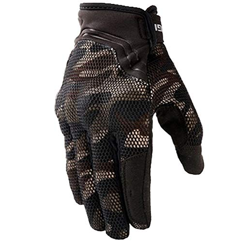Brown Camouflage Glove - TRDyj Gloves Motorcycle Riding Gloves Spring and Summer Breathable Anti-Fall Touch Screen Men and Women Knight Racing Gloves Men (Color : Camouflage Brown, Size : M)