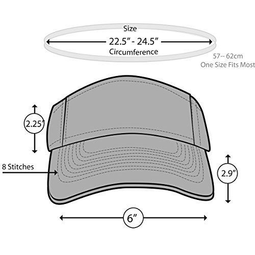 d9d0a95c258 KC Caps Men American Flag Sports Tennis Golf Sun Visor Hat - Import It All