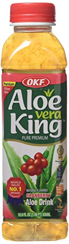 OKF King Cranberry Aloe Vera Drink, 500 ml, Pack of 20