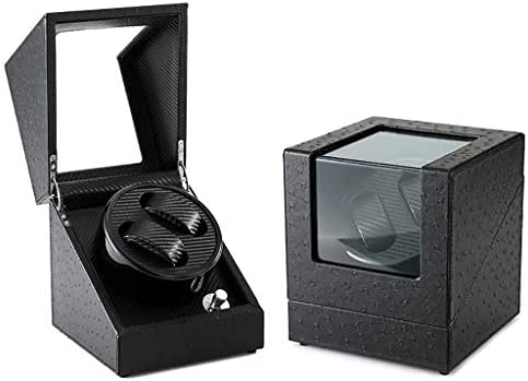 上げ機 自動ウォッチワインダー腕時計収納ケース2腕時計5モードの静かなモーター適したダブル自動ウォッチワインダーボックス 腕時計ワインディングマシーン (Color : E)