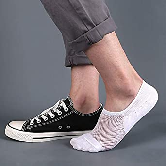 Mens No Show Socks Non Slip Athletic Cotton Ankle Socks 4//5 pairs Mens Trainer Socks Invisible Low Cut Socks with Non-Slip Grips