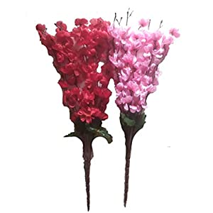 Sofix Artificial Peach Blossom Flower Bunch for Vase for Home Decor Office Decor Hotel Decor – 20inch/50cm