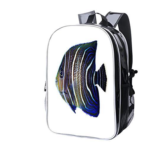 High-end Custom Laptop Backpack-Leisure Travel Backpack Koran Angelfish Water Resistant-Anti Theft - Durable -Ultralight- Classic-School-Black - Koran Angel Fish