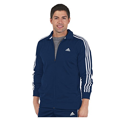 adidas Men's Essential Tricot Jacket, Collegiate Navy/White, Medium
