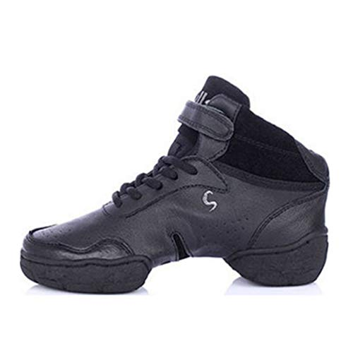 Original Women/Men Modern Salsa Jazz Dance Shoes With Breathable Dancing Sneakers Black 10.5