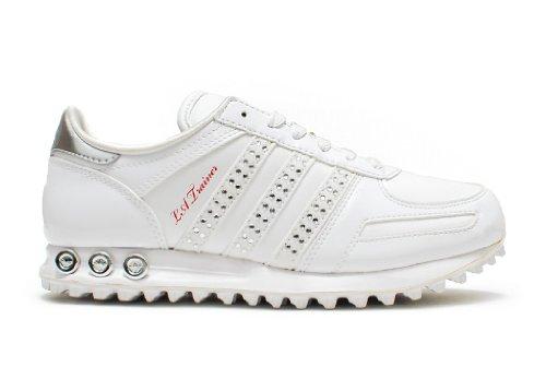 adidas , Baskets mode pour femme * Blanc/argenté/rouge