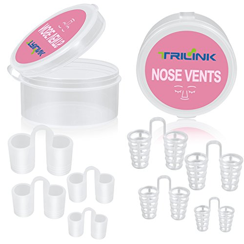 Set Of 8 Anti Snoring Nose Vents With Travel Case