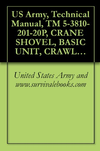 US Army, Technical Manual, TM 5-3810-201-20P, CRANE SHOVEL, BASIC UNIT, CRAWLER MOUNTED: 40-TON; 2 CU. YD. (HARNISCHFEGER MODEL 855BG2) WINTERIZED (FSN ... MODEL 855BG3 NONWINTERIZED (3810-786-5200)